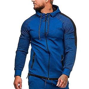 Battnot Herren Kapuzenpullover mit Reißverschluss Slim Fit Freizeit Sweatershirt mit Tasche, Männer Hoodies…