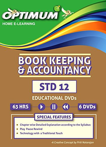 Optimum Educational DVDs HD Quality for Std 12 HSC Book Keeping