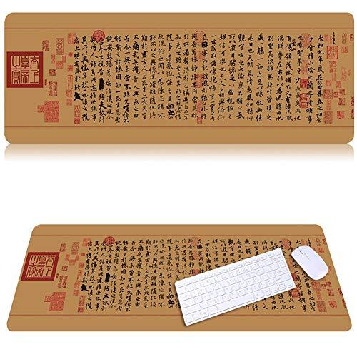 Lnzigk Mauspad Spiel Mauspad Große Anime Mauspad Computer Pad Schreibtisch Pad Große Tastatur Pad, Lanting Collection, 80 * 30 Cm -