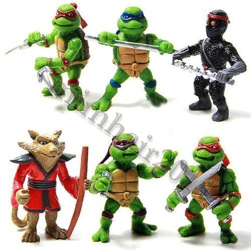 6 Teile Teenage Mutant Ninja Turtles TMNT Aktion Figuren Kollektion Spielsachen Set (Turtle Ninja Figur)