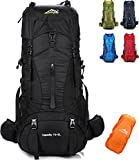 Onyorhan 70L+5L Backpack Travel Trekking Hiking Camping Climbing Mountaineering Rucksack for Men Women