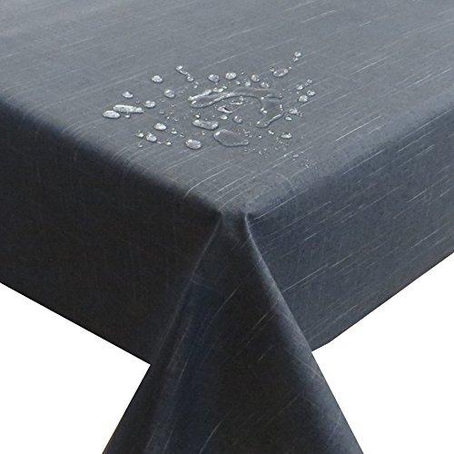 Meterware Stoff Farbe , Breite & Länge wählbar - Schwarz Linien TEFLON Eckig 80 x 120 bzw. 120x80 cm Tischdecke