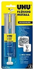 UHU 2-Komponentenkleber Flüssig Metall, Metallfarbener