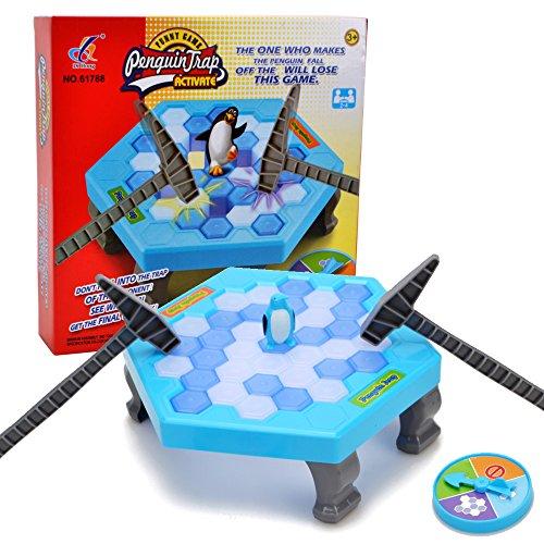 (WISHTIME Cubes Mini-Tisch Kinder Balance Ice Puzzle Save Penguin Icebreaker Schlagen Interaktive Spiele)