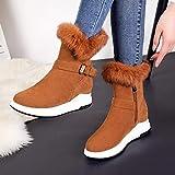 Phy Shoe Flache Schneestiefel warme Baumwollstiefel Größe 36, braun