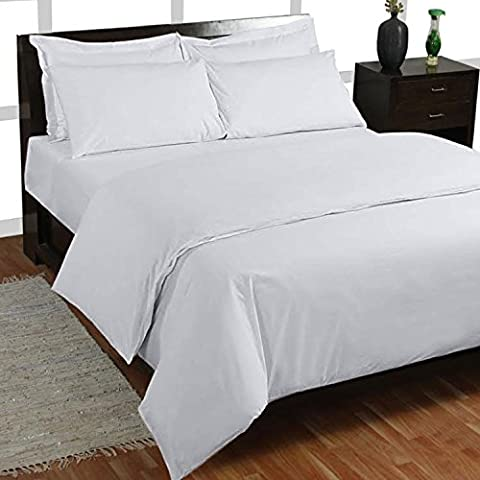 Fadendichte 12006-Bettlaken-Set (weiß massiv, Single (90x 6ft 15,2cm) lang, Pocket Größe 20cm) 100% ägyptische Baumwolle Premium Qualität