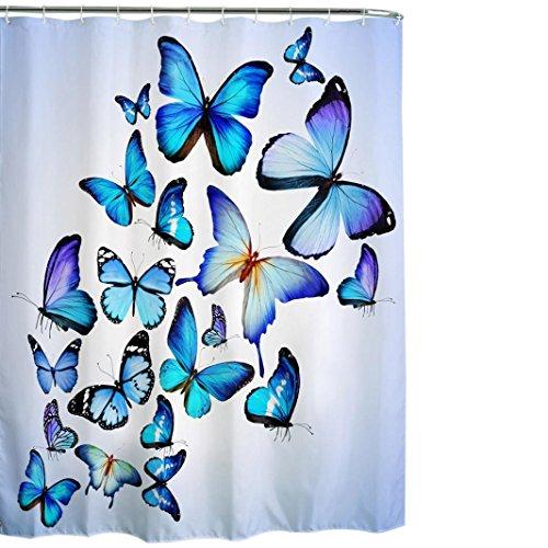 Hunpta Stoff wasserdicht Badezimmer Dusche Vorhang Panel schiere Dekor mit Haken-Set (H)
