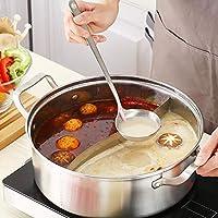 Diuspeed Cucharas de Sopa de Acero Inoxidable, 2Pack Cuchara de Sopa de Olla Caliente Multifunción