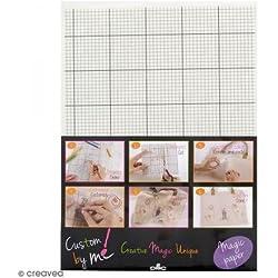 DMC FC0003 Feuille, Papier Soluble à l'eau, Blanc, 21 x 0,02 x 29,5 cm