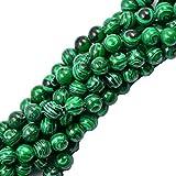 Grün Malachite Edelstein Rund Kugeln Perlen Strang Gemstone 8mm 15 Zoll