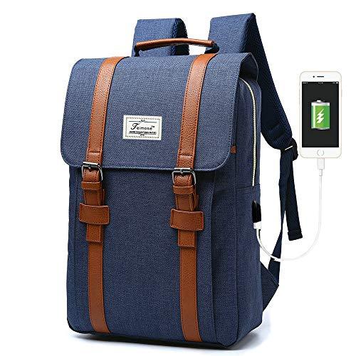 ACPBAGS Teimose R207 Laptop Bag 17inch Casual Unisex Waterproof Oxford School Backpack Rucksack (17INCH, Blue)