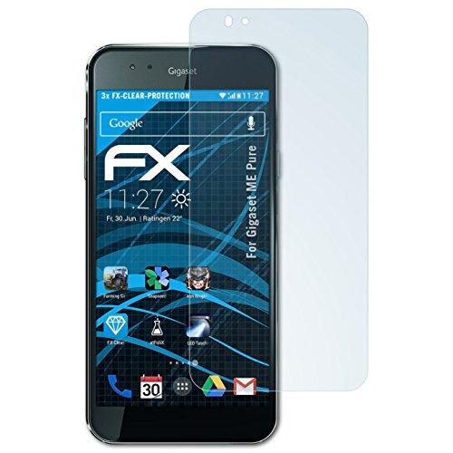atFolix Schutzfolie kompatibel mit Gigaset ME Pure Folie, ultraklare FX Bildschirmschutzfolie (3X)