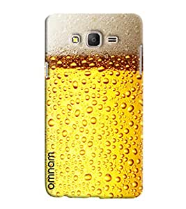 Omnam Beer Glass Effect Printed Back Cover Case For Samsung Galaxy On 7