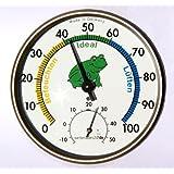 Wetterladen 4502030.50 Klimafrosch Hygromètre de précision à cheveu synthétique motif grenouille