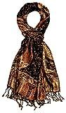 Lorenzo Cana - Luxus Herrenschal Schaltuch aus Seide und Wolle 70 cm x 190 cm Paisleymuster Männerschal Schaltuch gewebt