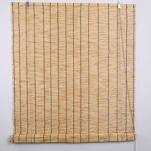 Bamboo curtain Reed Cortinas persianas toldo Cortinas de bambú Interiores y Exteriores Retro se Puede Levantar y Bajar persianas Romanas Cortinas a Prueba de Humedad Molde