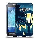 Head Case Designs Park Sonnenuntergang Sammlung Soft Gel Hülle für Samsung Galaxy Xcover 3