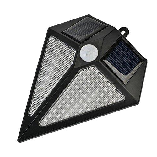 WUKONG Sensore di movimento di energia solare impermeabile parete esterna del riflettore luce della piattaforma del LED per il giardino, garage, strada