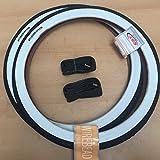 2x CST Weißwand 20 Zoll Reifen + 2 AV Schläuche | 20 x 1.75 | 47-406 Schwarz - Weiß Ventil Decke Mantel Cruiser Klapprad