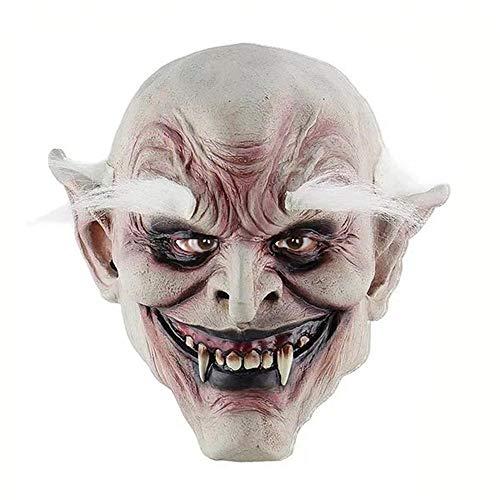 Rwdacfs Halloween-Gesicht Maske unheimlich beängstigend Latex Perücke Ball Leistung Requisiten