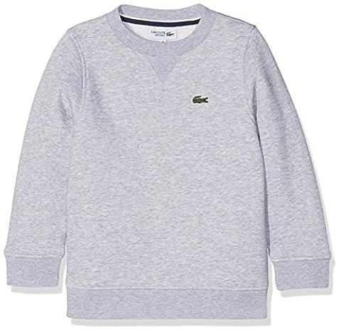 Lacoste Sport SJ2895, Sweat-Shirt de Sport Garçon, Gris (Argent Chiné), 16 Ans (Taille Fabricant :