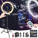 Neewer Ring Light Kit, LED Anneau Lumineux 16 Pouces avec Pied, Lumière...