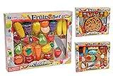 85 tlg Lebensmittel Set für Spielküche schneidbar Fisch Pizza Gemüse uvm