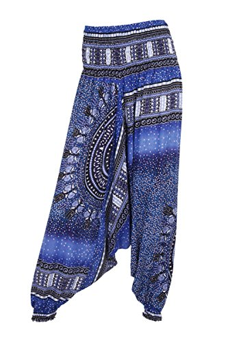 Aladdinhose – Harems-/ Hippie-Hose Blau - Bubbles Blue