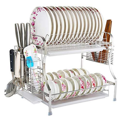 Framy-shelf 2 Tier Abtropfgestell Edelstahl Wäscheständer Schüssel Abtropfgestell Trockner Tray Holder Kitchen Organizer -