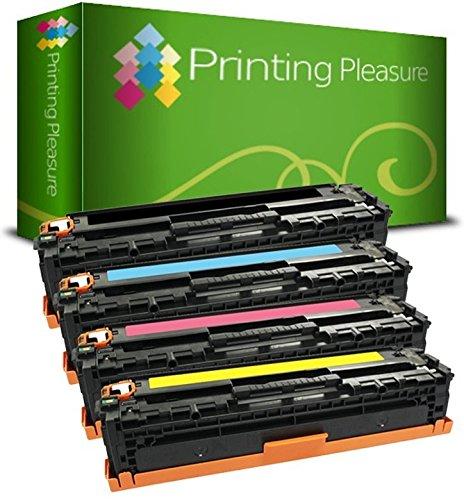 Printing Pleasure 4er Set 131X/131A 731 Premium Toner kompatibel für HP Laserjet Pro 200 Color M251n, M251nw, MFP M276n, MFP M276nw, Canon LBP-7100CN, LBP-7110CW, MF-8230CN, MF-8280CW (Hp Tonerkassette 131)