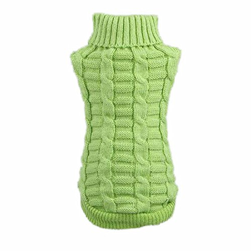 Culater® Moda Cane Vestiti Invernali Tridimensionale Maglione Cucciolo Vestiti Di Lana (XXL, Verde)