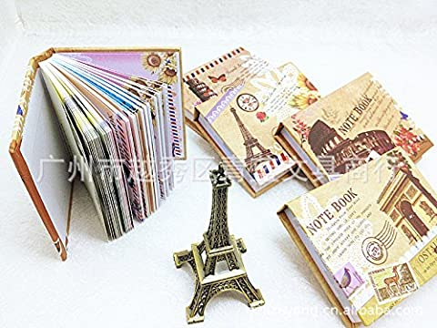 Happy Star® Cute Vintage Style Paris Rome Holiday Hardback Small Notebooks Pocket Memo Pads (The Tower of Pisa)