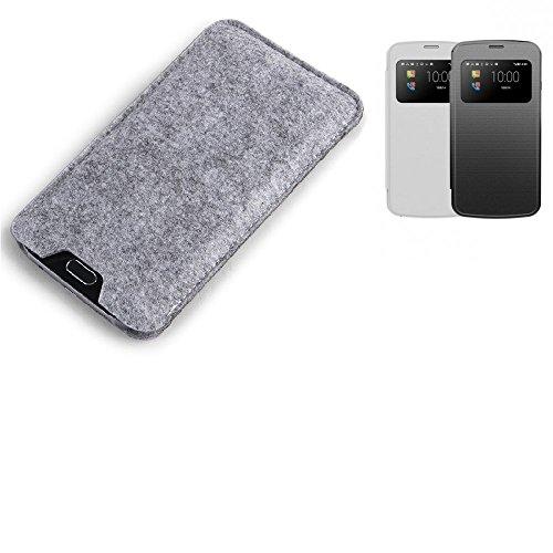 K-S-Trade Filz Schutz Hülle für MobiWire Pegasus Schutzhülle Filztasche Filz Tasche Case Sleeve Handyhülle Filzhülle grau