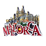 Weekinglo Souvenir Imán de Nevera Castell de Bellver Mallorca España 3D Resina Artesanía Hecha A Mano Turista Viaje Ciudad Recuerdo Colección Carta Refrigerador Etiqueta