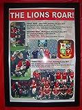 British & Irish Lions 2017 Tour to New Zealand - drawn series - framed print