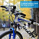 AUOPLUS USB Rechargeable Bike Light 1200 Lumen Headlights Super Bright Bicycle Front Light and Taillights Waterproof LED Torch Headlamp Flashlight with Battery Pack