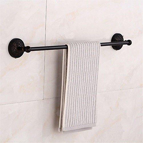Yomiokla accessori per il bagno - cucina, servizi igienici, balcone e anello porta asciugamani in metallo antiquariato in ottone nero montato a parete singola leva
