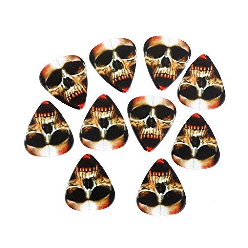 10 Skull Guitar Picks plektrum Plektron Plektren Gitarre Guitar 0.73mm (Coole Plektren Plektren)