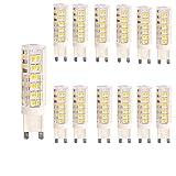 OUGEER 12er Pack G9 LED Lampe, Kein Flackern, (7W, Ersetzt 65W Halogen), 650LM, Warmweiß 3000K, G9 LED Leuchtmittel Birne