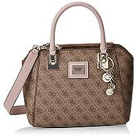 Guess Womens Satchel Bag, Brown Multi - SG766806