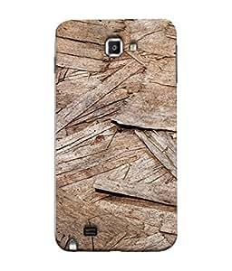 PrintVisa Designer Back Case Cover for Samsung Galaxy Note N7000 :: Samsung Galaxy Note I9220 :: Samsung Galaxy Note 1 :: Samsung Galaxy Note Gt-N7000 (Woodn Creativity art looks stuuning for Men)