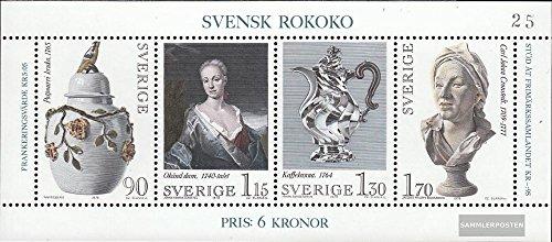 Prophila Schweden Block7 (kompl.Ausg.) 1979 Rokoko (Briefmarken für Sammler)
