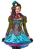 Damen Kostüm Leg Avenue - Deluxe Mad Hatter - Alice im Wunderland verrückter Hutmacher, Größe:M