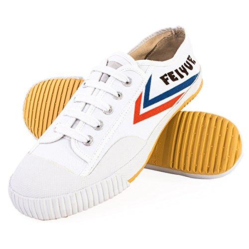 Wu Designs Feiyue– scarpeminimalper arti marziali,Wushu, bianco, 43 EU
