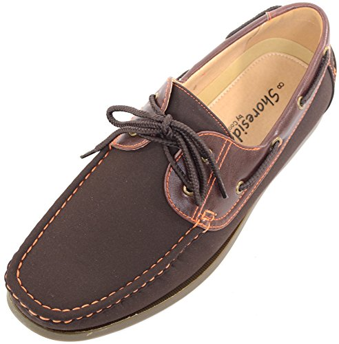 Mens Smart / Casual / Summer Lace Up Boat / Deck Shoes / Loafers - Brown - UK 10