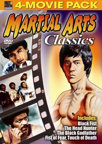 Martial Arts Classics 4-Movie Pack - Black Fist, Head Hunter, Black Godfather, Fist of Fear, Touch of Death by Chow Yun Fat (Fat Head Dvd)