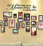 "DRESS_Home ❤️❤️DRESS®""The Best Thing About Memories is Making Them"" Wall Sticker PVC Home Decor Removable Living Room Decal Art Mural Decoration Suit for Photos Wall"