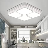 MYHOO 48W Kaltweiß LED Deckenleuchte Design LED Deckenlampe Wohnzimmer Lampe Schlafzimmer Küche Leuchte[Energieklasse A++]