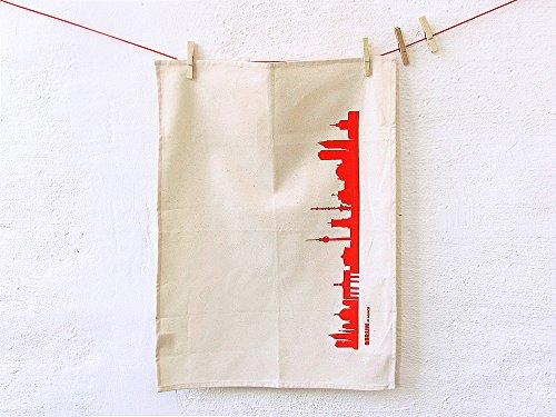 Unbekannt Torchons/Tea Towels : Berlin City, Assortis Rouge