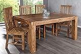 DuNord Design Esstisch Tisch JAKARTA 160cm Sheesham Massivholz Massiv Holz Tisch Esszimmer